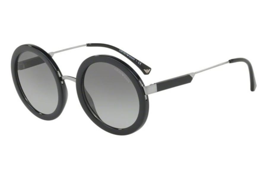 Emporio Armani EA4106 Sunglasses in 500111 Black / Grey Gradient